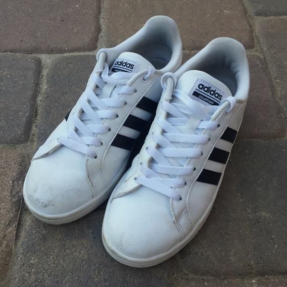 le adidas tre strisce bianco cloudfoam scarpe poshmark